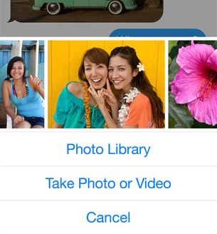 Image Picker in iOS 8 Messages app